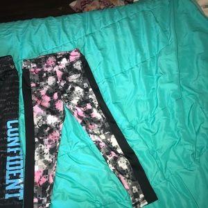 Justice Bottoms - Justice leggings, one Capri, one longe length